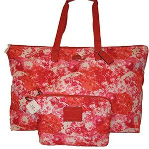 COACH WEEKENDER TOTE SHOULDER BAG 2 pc Pink Red